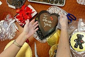 Chocolatier Prepares For Valentine's Day