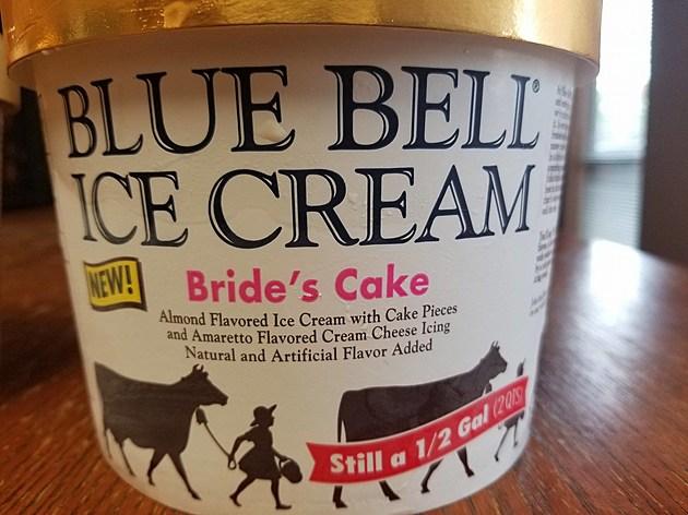 Blue Bell Brides Cake Ice Cream